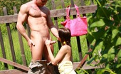Club Seventeen Rosa Flower picking teenage girl drilled hard in a big garden