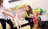 Club Seventeen Kata And Suzi Two horny girls enjoy having a hot lesbian slumber party