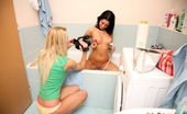 Club Seventeen Betty And Sabrina Teen undressing and petting boobs for her friends camera
