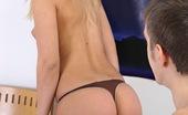 Club Seventeen Kristina Teenage blonde sucking and fucking a solid cock hardcore