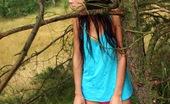 Club Seventeen Tamara A gorgeous teenage brunette stroking cooch in the woods