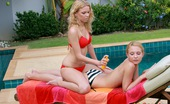 Club Seventeen Nataly Von Two lesbian teenage chicks love licking moist vagina lips