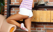 Club Seventeen Victoria Sweet Horny teenager screwed on a chair by a large boner hard