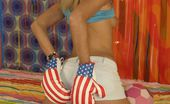 Club Seventeen 116353 Innocent teen wearing her boxing gloves before a fistfight