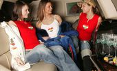 Club Seventeen Suzie Carina And Tarra White And Sweety Three teenage cuties toying their thight pussies in a limo
