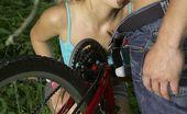 Club Seventeen Carla Cox Flat tire teenie getting lots of help from an erect pump