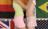 Club Seventeen Two teenage brunettes playing naughty sexual games together