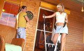 Club Seventeen Sarah Blue Willing blonde teen sliding her wet slit over hard boner