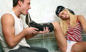 Club Seventeen Cameron Gold Tough blonde teen chick fucking a stiff dick at the toilet