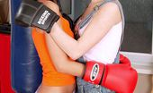 Club Seventeen Hana Skrabalova Two boxing lesbian teenagers toying their tight pussies