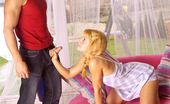 Club Seventeen Nancy Blonde teenie with pigtails enjoys a penis inside her slit
