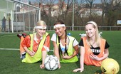 Club Seventeen Malisa Moir Three teenage sweeties playing games after a soccer game