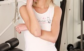 Club Seventeen Ilse Petite blonde teenie girl doing an erotic dildo workout
