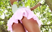 Club Seventeen Marilyn Beautiful forest teenie toying her moist vagina secretly