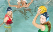 Club Seventeen Five waterpolo playing teenagers toying eachothers pussy