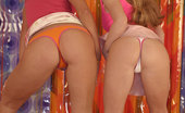 Club Seventeen Blonde lesbian teens showing their sweet tight pussy lips