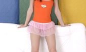 Club Seventeen Brigitte Hairy teenage sweetie spreading her furry slit wide open