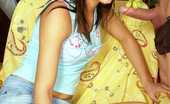 Club Seventeen Eva Brunette teen takes a full load on her cute innocent face