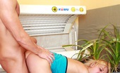 Club Seventeen Britt Naughty blonde teenager pleasing cock in a solar studio