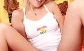 Club Seventeen Britt Blonde teenie loves to get dirty with a big stiffy cock