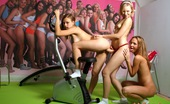 Club Seventeen Tatjana And Ester And Hilary Three cute lesbo friends toying each ohters tight pussy