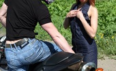 Club Seventeen Sandy Hot and sexy hitchhiker is given a very bumby ride in car