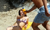 Club Seventeen Luna Sexy cutie sucking really big cock on the beach publicly