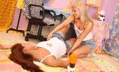 Club Seventeen Maxima And Sharon Two hot lesbian teenagers singing karaoke with a big dildo