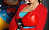 Club Seventeen Conny Mason Horny and naked babe loves playing with the boxing machine