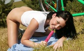 Club Seventeen Belicia A hot horny teenage biker stops for masturbation outdoors