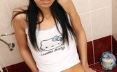 Club Seventeen Ferrara Gomez Hot horny teenage girl has sexual pleasure on the toilet