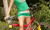 Club Seventeen Dolly Darkley Hot sexy teenager on a bike stops for outdoor masturbation