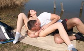 Club Seventeen Pascalle Very horny brunette fucked near a lake hardcore by boyfriend