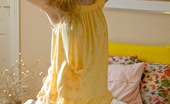 Club Seventeen Peggy Smoking hot teenage beauty on lying naked her bed with a toy