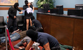 Bound Gangbangs Fantasy role-play update where a sexy bank teller gets handcuffed and gangbanged by masked bank robbers!