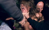 Bound Gangbangs Girl submits her gangbang fantasy and lives it out in her first porn ever! Fantasy role play with take down in the woods. Double anal!