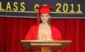 Big Tits At School Wonderful Sex Auditorium Haley Cummings Mr. Sins has promised Haley and Ashley at the same time to do the valedictorian speech at the gradua...