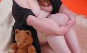 BBW Sex Videos Fat Cute Teen Posing Nude with her Teddy Bear