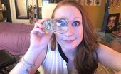 Lucy Ohara Got A Brand New Glass Dong And Cums Hard With It