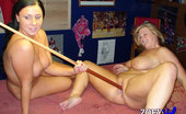Zoey Andrews Meets Jessie Renee Hey Fuck Her With The Pool Cue Said The Cameraman. Says Ok, No Problem. Watch In Some Hot Girl/Girl Action On The Pooltable With Jessie-Renee, Even So Far As To Lube Up The Stick And Let Jessie-Renee Fuck Her With It.