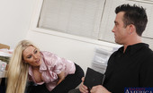 Naughty Office Riley Evans Hot blonde worker is so horny she sucks and fucks while she is at work.