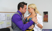 Naughty Office Destiny Jaymes Gorgeous blonde has rough hot sex on her bosses desk and orgasms loudly at work.