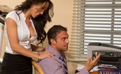 Naughty Office Capri Cavanni Sexy worker babe is at work and decides to suck cock and have hot sex on her desk and chair at work.