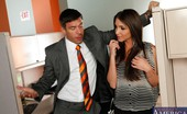 Naughty Office Giselle Leon Brunette babe is bored at work and decides to fuck the boss to pass the time.
