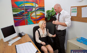 Naughty Office Ash Hollywood Blonde worker babe wants a raise and she fucks to get one.