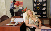 Naughty Office Sarah Vandella Sarah Vandella is masturbating and then gets caught so she punishes her worker by fucking him.