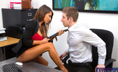 Naughty Office Madison Ivy Gorgeous busty Madison Ivy decides to fuck a co worker on her desk before she is done for the day.