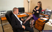 Naughty Office Dani Daniels Dani Daniels punishes her worker then decides to make him punish her pussy and have hot sex at work.