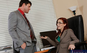 Naughty Office Penny Pax Redhead hottie Penny Pax just got a visit from her former co-worker after she was fired. Penny always thought he was a very handsome man and with all the stress of losing her job she needs some release. She comes on to him and takes his cock all over her