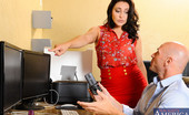 Naughty Office Gracie Glam Gracie Glam catches her employee editing some porn during company time. She's actually really impressed with his camera work, so instead of punishing him she decides to have him shoot a video for her. She has him record as she slowly strips in the office,